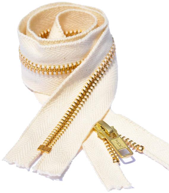 White - Zipper